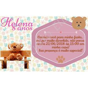 Convite Digital Ursinho Fofo