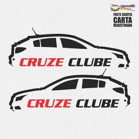 Kit 2x Adesivos Cruze Clube Hatch 20cm Frete Grátis D128