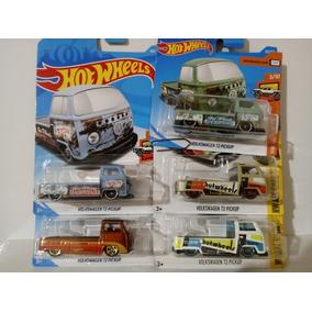 Lote C/ 05 T2 Kombi Pick Up Hot Wheels 1/64
