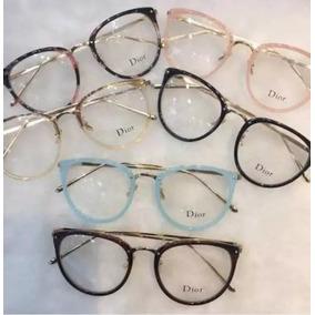 Óculos Feminino Armação Grau Geek Quadrado Vintage Preta Di 056550a682