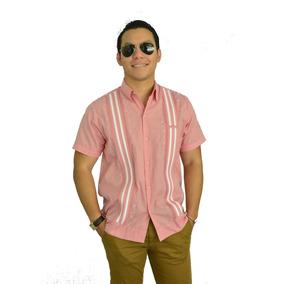 Camisa Guayabera Yucateca Casual Lino Manga C _cfkkkplum