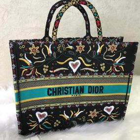 58eb0b0bb02 Réplica Perfeita Bolsa Christian Dior Sela Preta Couro - Bolsas ...