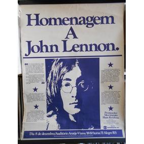 John Lennon Poster Homenagem 1981 Porto Alegre 47 X 64 Cm