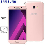 Samsung Galaxy A7 2017 Rosa 32 Gb 4g Duos + Capa