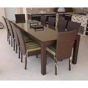e5dc25756 Jogo Conjunto Mesa De Jantar Com 10 Cadeiras Fibra Sintetica