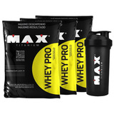 Combo 3x Whey Pro - Max Titanium - 4,5kg - Refil - Proteína