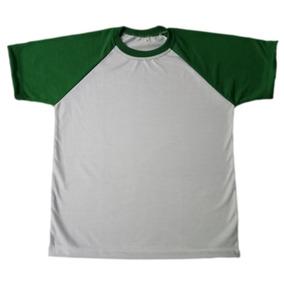 Kit Com 15 Camisetas Raglan Para Sublimação-várias Cores · 2 cores d4a3001a8882a
