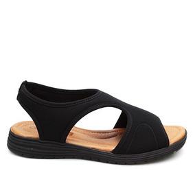 Sandália Sem Frete Comfortflex Preta Lycra 010303
