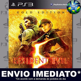 Jogo Ps3 Resident Evil 5 Gold Psn Play 3 Mídia Digital