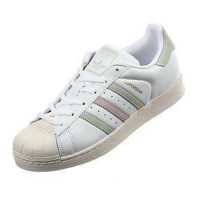 Tenis adidas Superstar W Blanco Verde Rosa 4-5.5 Originales