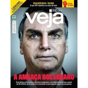 Revista Veja : A Ameaça Jair Bolsonaro ( Original Novo )