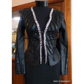 Chaqueta De Cuero Mujer Negra - Chaquetas Mujer en Mercado Libre Chile c457a3c4e1d3