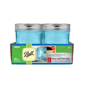 Set 4 Frascos 8 Oz Azul Ball Mason Jar