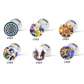 Bótons Button Cavaleiros Dos Zodiacos Animes