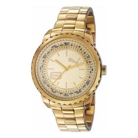 Reloj Dam Pu103152002 Puma Corona Dorada Ext Metal. Original