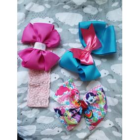 Paquete De 3 Accesorios Moños Y Banditas Cabello Little Pony