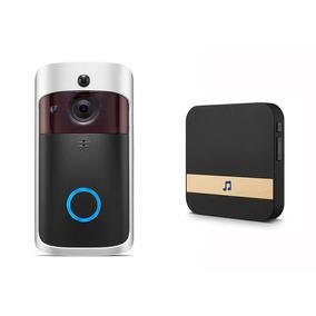 Interfone Vídeo Porteiro Wifi Atenda Pelo Celular + Pilhas