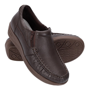 Sapato Feminino Couro Conforto Diabetico Anti Estresse