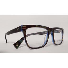 Óculos Armação Acetato Masculino Tamanho 54 Azul Good Time e66ee06c2d