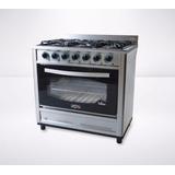 Cocina Industrial Fornax Vidrio Templado 90 Cm Ci90-vid 6 H