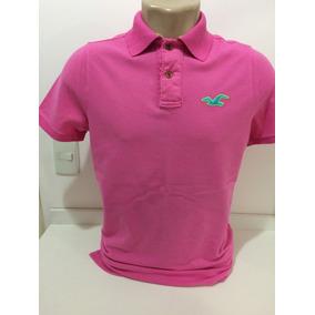 258c153db5 Camisa Hollister Gola Polo Rosa - Calçados