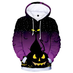 Sudadera Con Capucha Con Estilo 3d Halloween Impresión