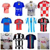 Kit 7 Camisas De Times Europeus E Brasileiros