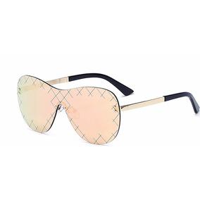 fa504e7acb599 Oculos De Sol Feminino Sem Armação Oversized Espelhado