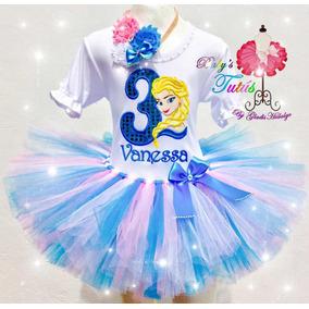 Frozen Elsa Tutus Personalizados Fiesta Traje 899f6f5aa02