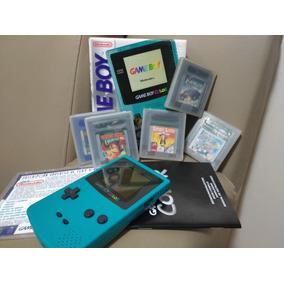 Para Colecionador Game Boy Color Teal Zero + 5 Jogos