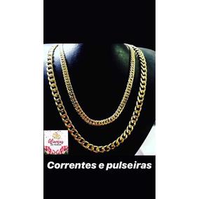 Kit Corrente + Pulseira + Pingente De Liga De Moeda