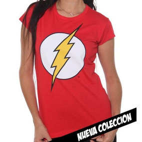 Playera Flash Logo Mujer Original Dc Comics