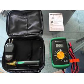 Set Multimetro Greenlee Dm-20 Con Estuche Y Detector De Volt 55c802a96429