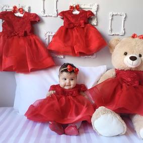Vestido Festa Princesa Casamento Recém Nascido A 1 Ano