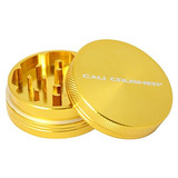 Cali Crusher Hard Top 2 Piezas De Hierba Grinder Gold Cc2gl