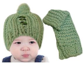 Conjunto Infantil Cachecol E Gorro De Lã Verde Frio Extremo efe0c612ef5