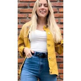 Campera Rigida Jeans Amarillo 2234238ea93f