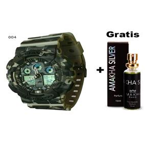 Relogio G-shock Ga-100 Barato + 1 Perfume De Brinde