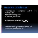 Tcc, Monografia E Textos Acadêmicos Em Geral