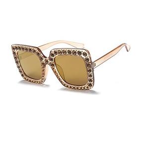 5496188e45 Grandes Gafas De Sol Cuadradas De Cristal Moda Para Mujer Di