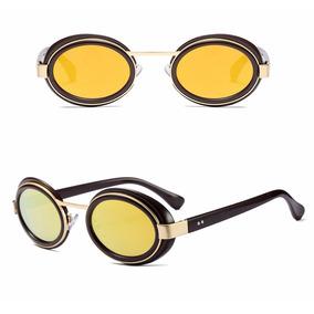 108662a43c584 Oculos De Sol Retro Fashionista Lente Oval Proteção Uv 400