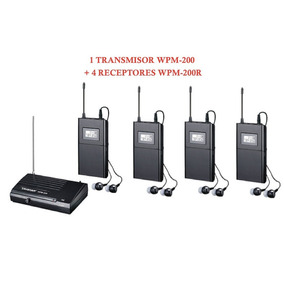 Sistema De Monitoreo Inalambrico Takstar Wpm200 Y 4 Receptor