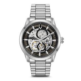 Reloj Bulova Sutton Skeleton Automático 96a208 Original