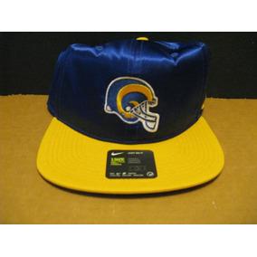 Boné Nike Nfl Los Angeles Rams Azul Amarelo Aba Reta- 902092 2bdabe7cfd9