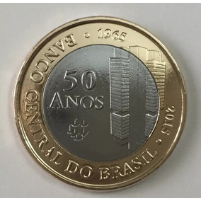 Moeda 1 Real Bc 50 Anos Banco Central 2015 Original