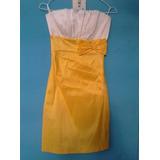 Vestido Elegante Y Corto Amarillo