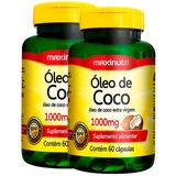 Óleo De Coco 1000mg - Maxinutri 2x60 Cápsulas