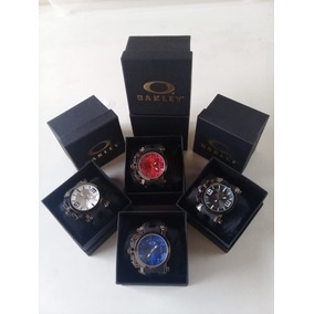 Relógio Oakley Gearbox Com Caixa Prova Dagua
