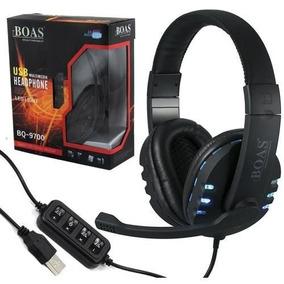 Fone Fio Headset Gamer Pc Playstation Ps4 Ps3 Boas Bq-9700