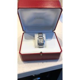 Reloj Cartier Tank Frances Acero Caballero Cuarzo Sin Uso